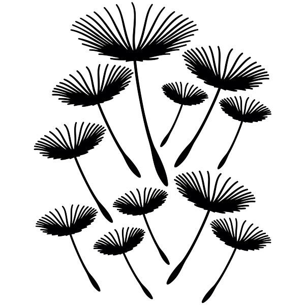 Stickers muraux: Pissenlits volant