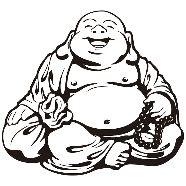 Stickers muraux: Bouddha souriant
