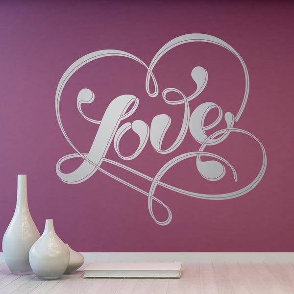 Stickers muraux: Parole Love et coeur