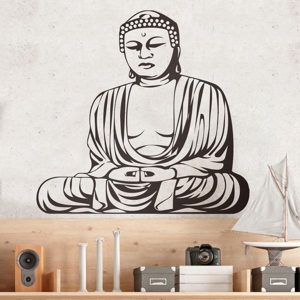 Stickers muraux: Bouddha Sagesse