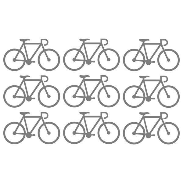 Stickers muraux: Kit 9 stickers Vélos