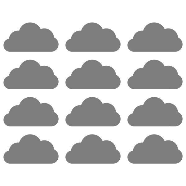 kit 9 stickers nuages. Black Bedroom Furniture Sets. Home Design Ideas