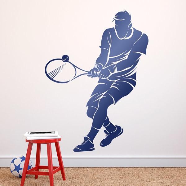 Stickers muraux: Le joueur de tennis revers à deux mains