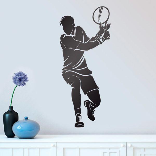Stickers muraux: Le joueur de tennis frapper revers