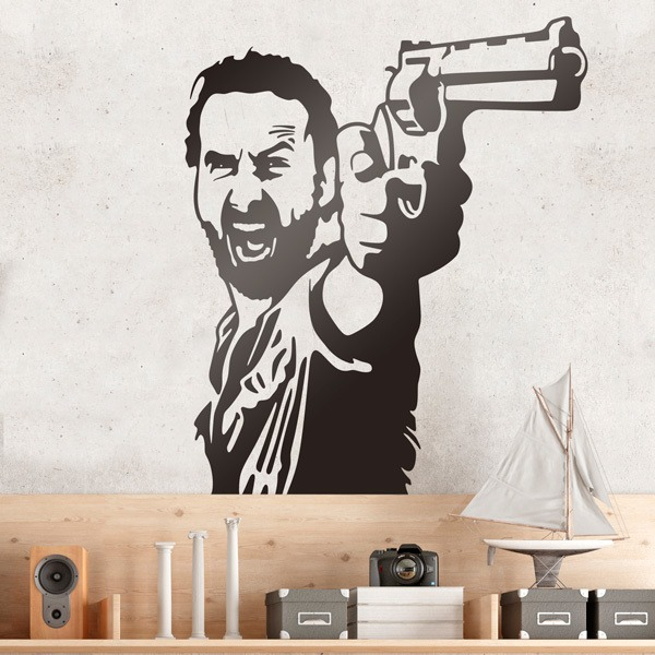 Stickers muraux: Rick Grimes TWD