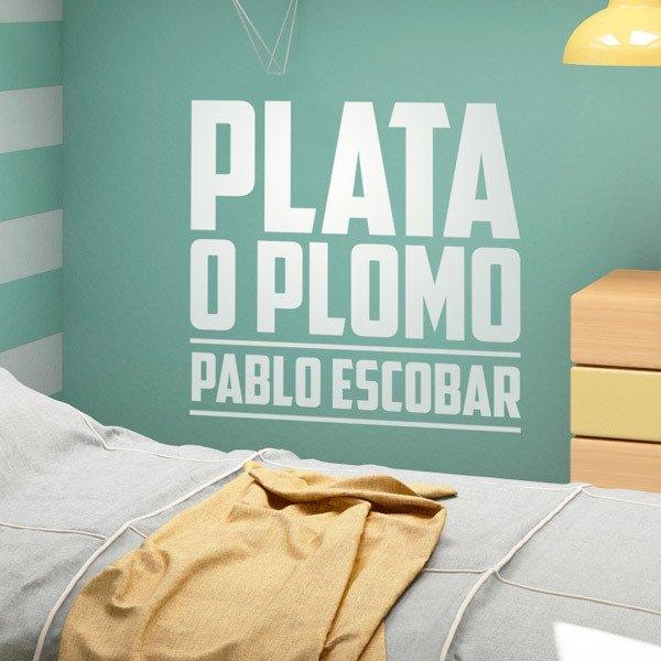 Stickers muraux: Plata o Plomo Pablo Escobar