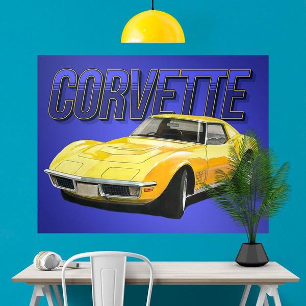 Stickers muraux: Poster adhésif Corvette