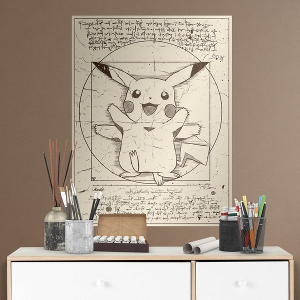 Stickers muraux: Poster adhésif Pikachu Vitruvio