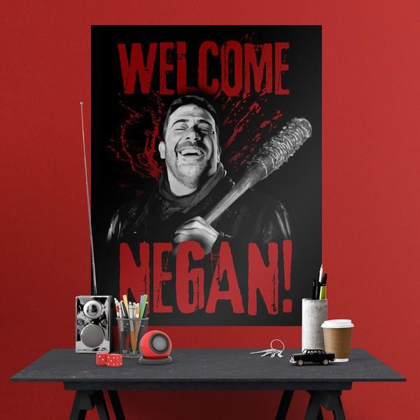 Stickers muraux: Poster adhésif  Welcome Negan TWD