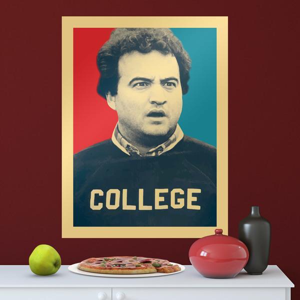 Stickers muraux: Poster adhésif John Belushi College