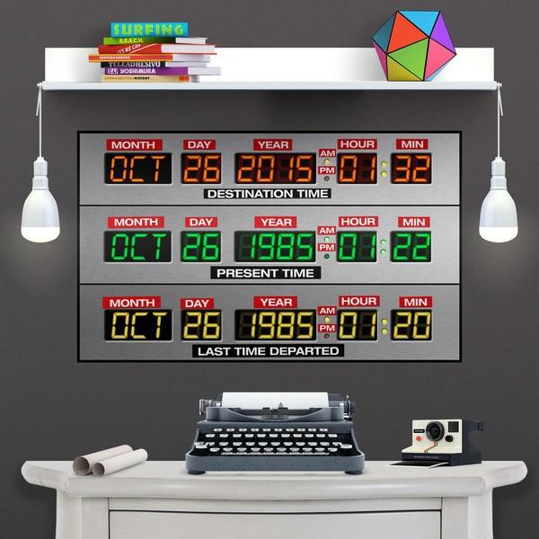 Stickers muraux: Poster adhésif  DeLorean Time Panel