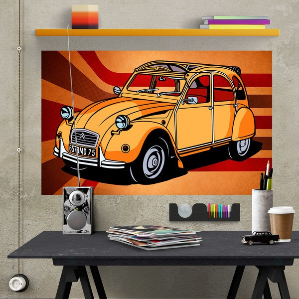 Stickers muraux: Poster adhésif Citroën 2CV