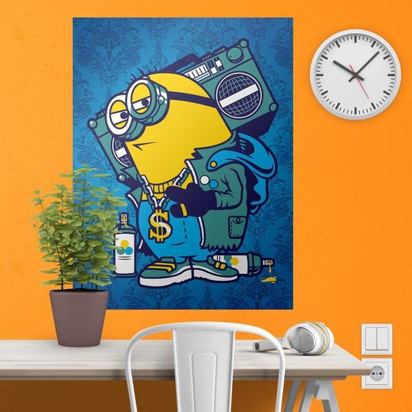 Stickers muraux: Poster adhésif Minion Bomb Box Graffiti