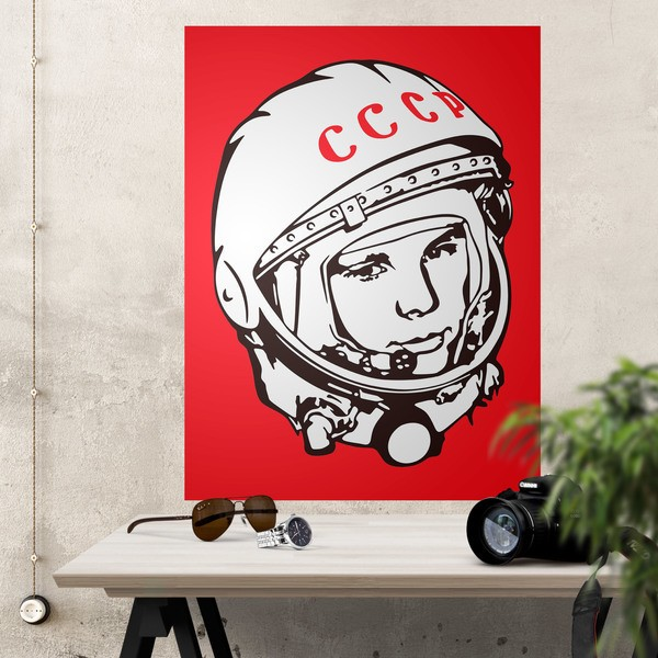Stickers muraux: Poster adhésif Astronaute Yuri Gagarin