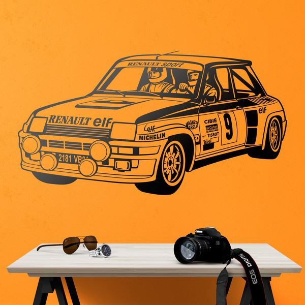 Stickers muraux: Renault 5 Turbo Rallye
