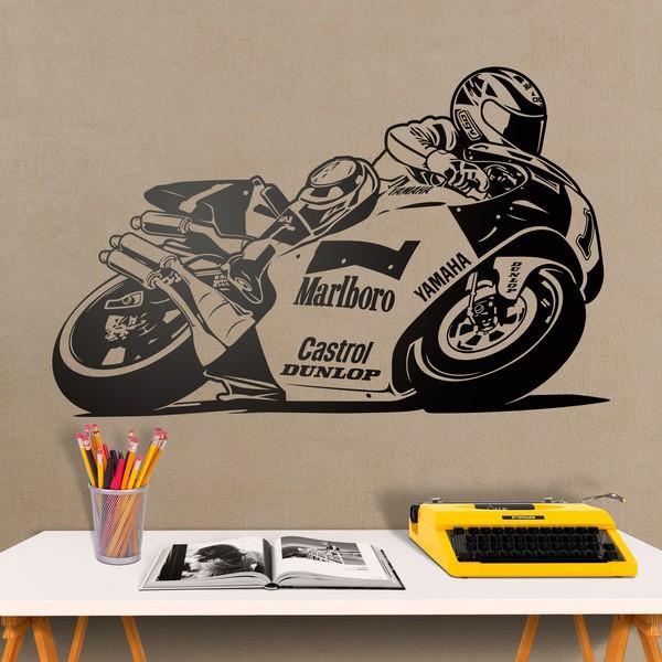 Stickers muraux: Wayne Rainey Yamaha moto