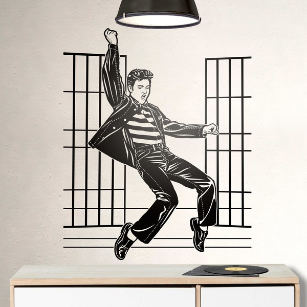 Stickers muraux: Elvis Presley Jailhouse Rock