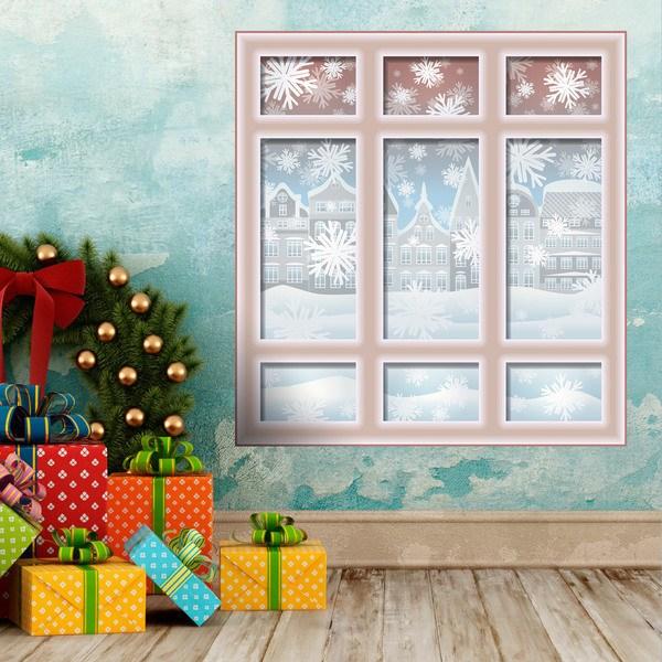 Stickers muraux: Noël Fenêtre