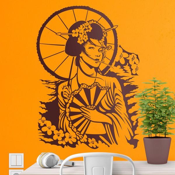 Stickers muraux: Geishas japonais