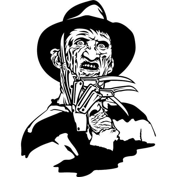 sticker mural freddy krueger. Black Bedroom Furniture Sets. Home Design Ideas