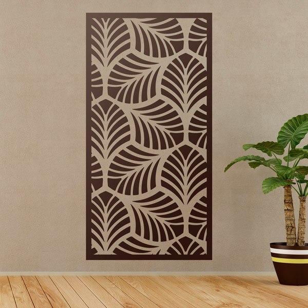 Stickers muraux: Estampage ornemental feuille feuilles 2