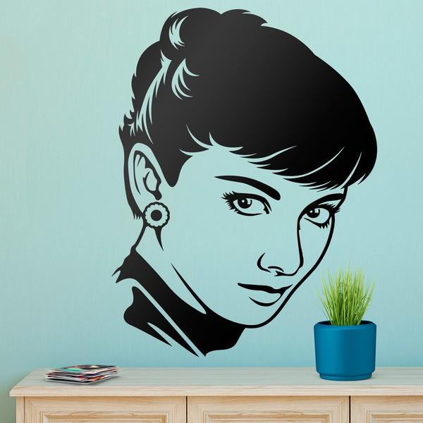 Stickers muraux: Le regard d Audrey Hepburn