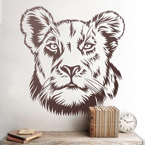 Stickers muraux: Lionne