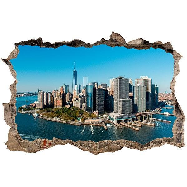 Stickers muraux: Trou Vue aérienne de New York