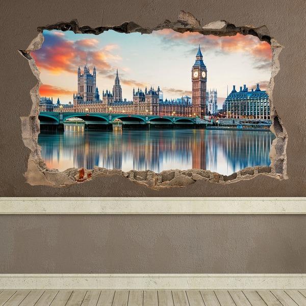 Stickers muraux: Trou Londres de la Tamise
