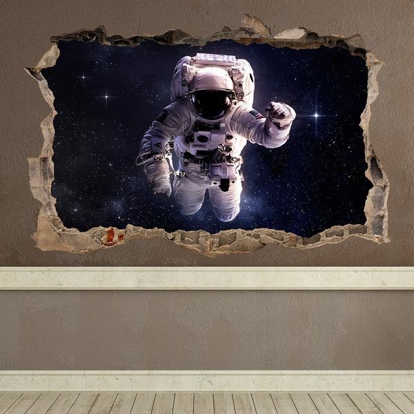Stickers muraux: Trou Astronaute