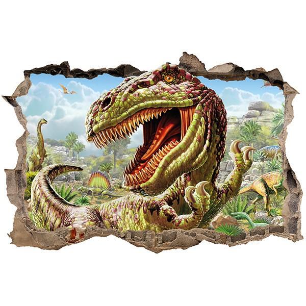 Stickers muraux: Trou Dinosaur