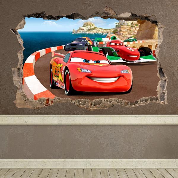 Stickers muraux: Trou Cars
