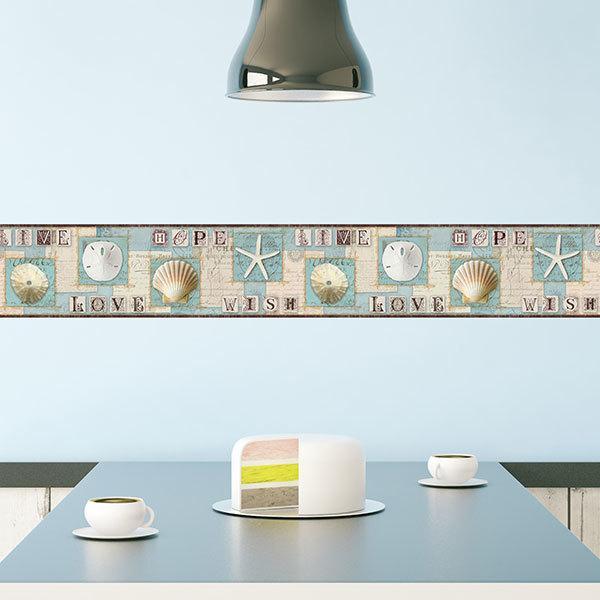 Stickers muraux: Frise murale motifs marins