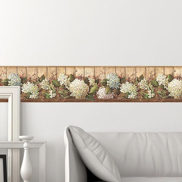 Stickers muraux: Frise murale fleurs