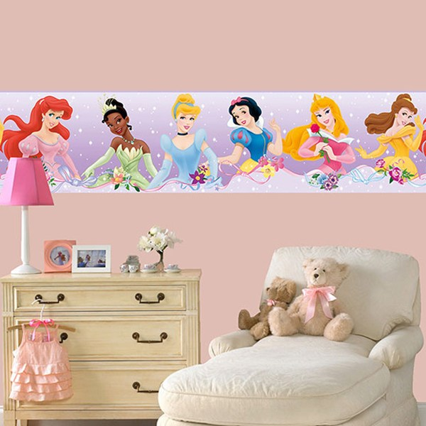 Stickers pour enfants: Frise murale Disney Princesses