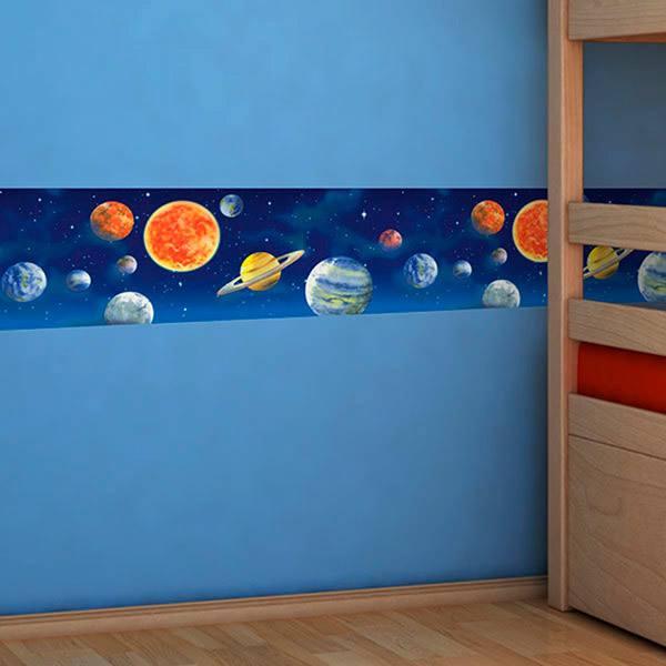 Stickers pour enfants: Frise murale espace