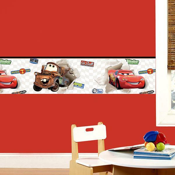 Stickers pour enfants: Frise murale Cars