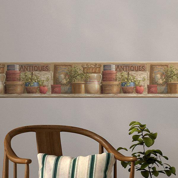 Stickers muraux: Frise murale Antiques