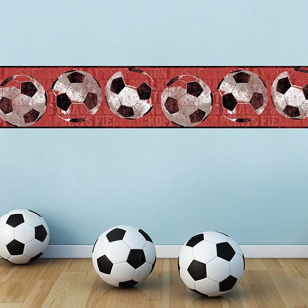 Stickers pour enfants: Frise murale  football
