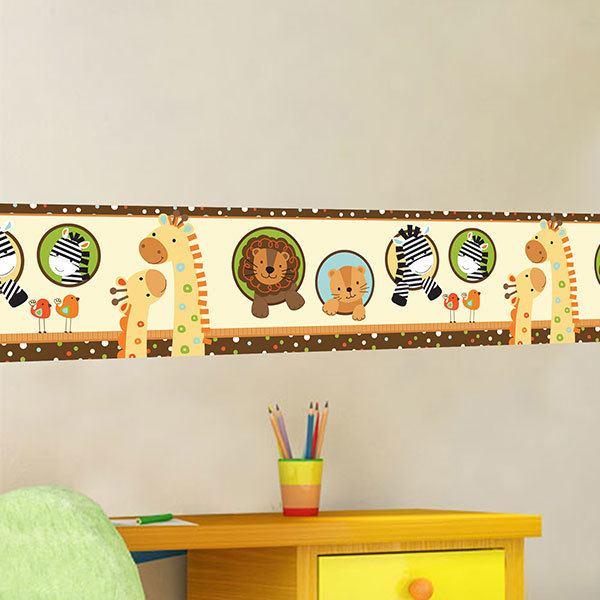 Stickers pour enfants: Frise murale animaux nouveau-nés