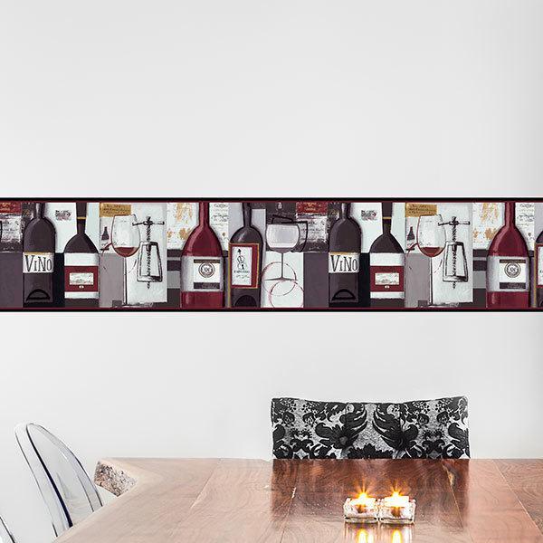 Stickers muraux: Frise murale vin