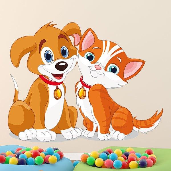 Stickers pour enfants: Chien et chat