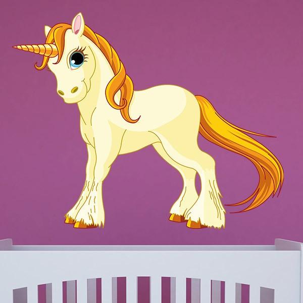 Stickers pour enfants: Poney Unicorn