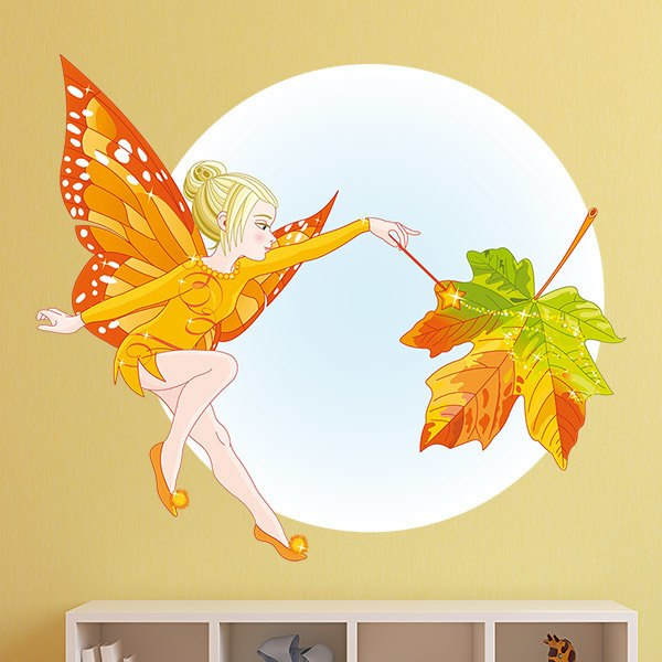 Stickers pour enfants: Papillon Autumn Fairy