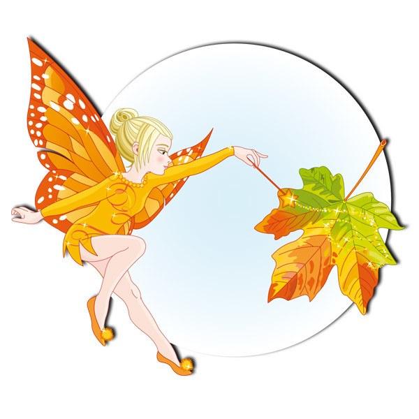Stickers pour enfants: Papillon Autumn Fairy