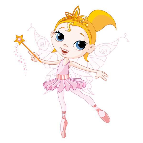 Stickers pour enfants: Fée Danseuse Rose