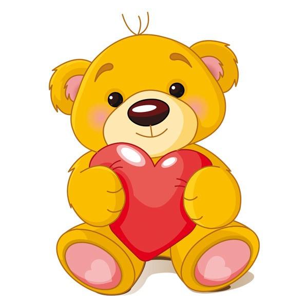 Stickers pour enfants: Ours Coeur