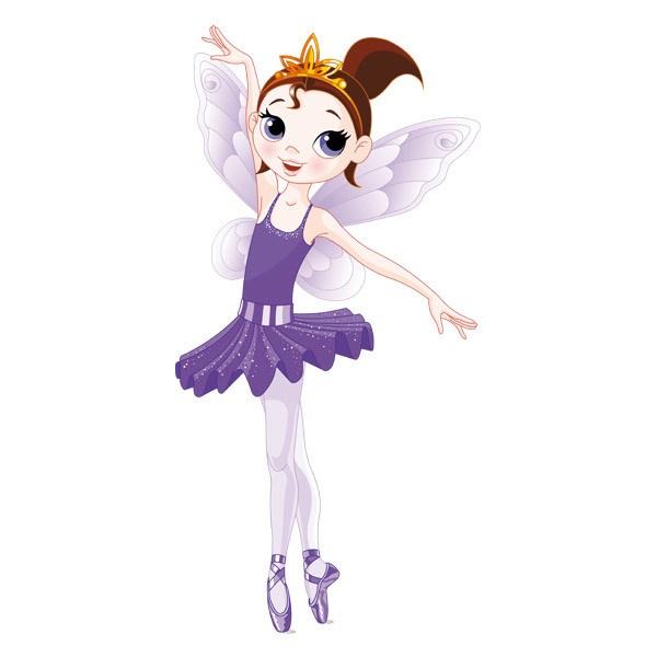 Stickers pour enfants: Fée Danseuse Violet
