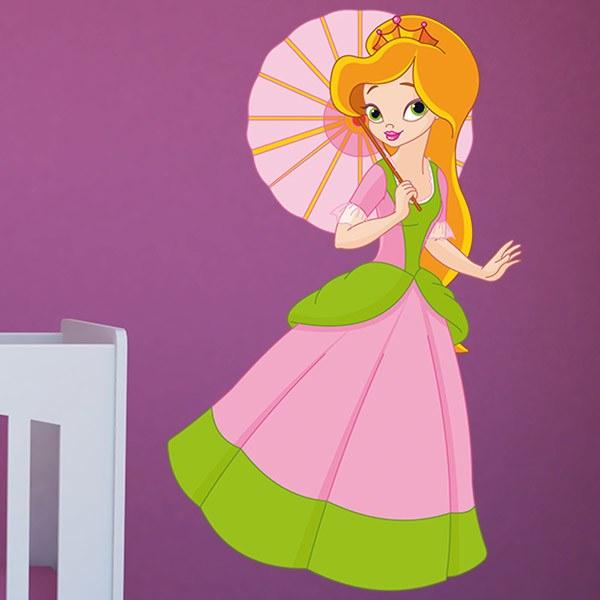 Stickers pour enfants: Princesse avec pare-soleil
