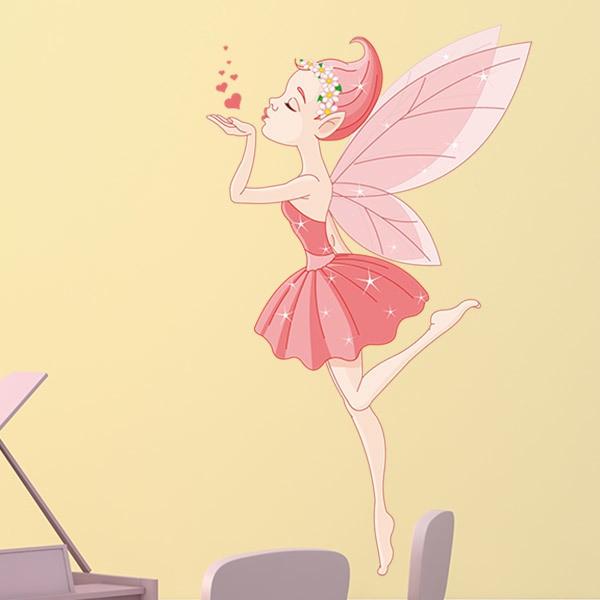Stickers pour enfants: Baiser Ballerina Fée